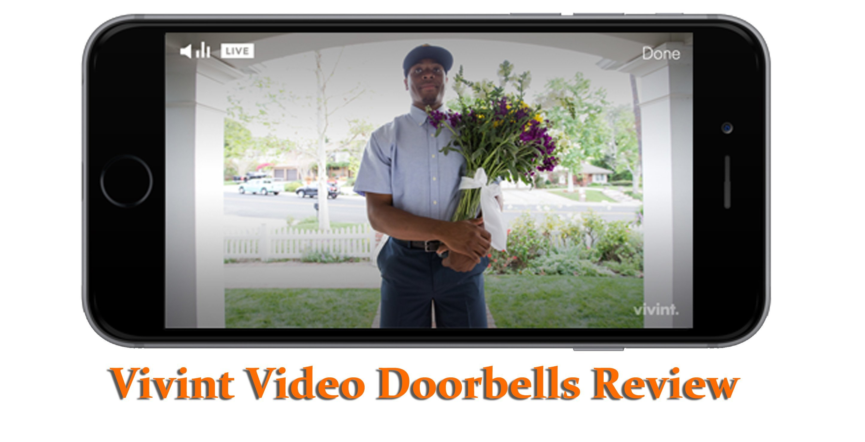 Featured image for article: Vivint video doorbell review