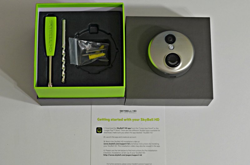 Skybell HD with accessories