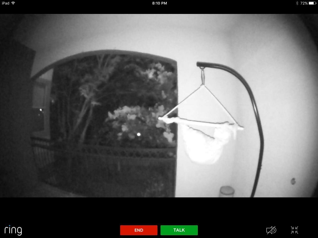 Ring video doorbell pro - Night Time