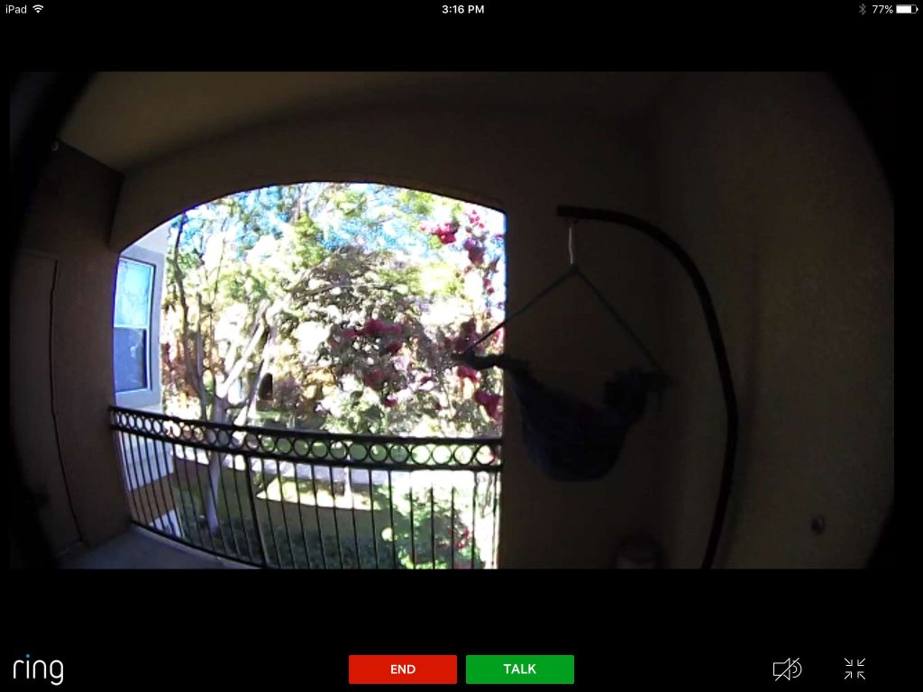 Ring video doorbell pro in day time