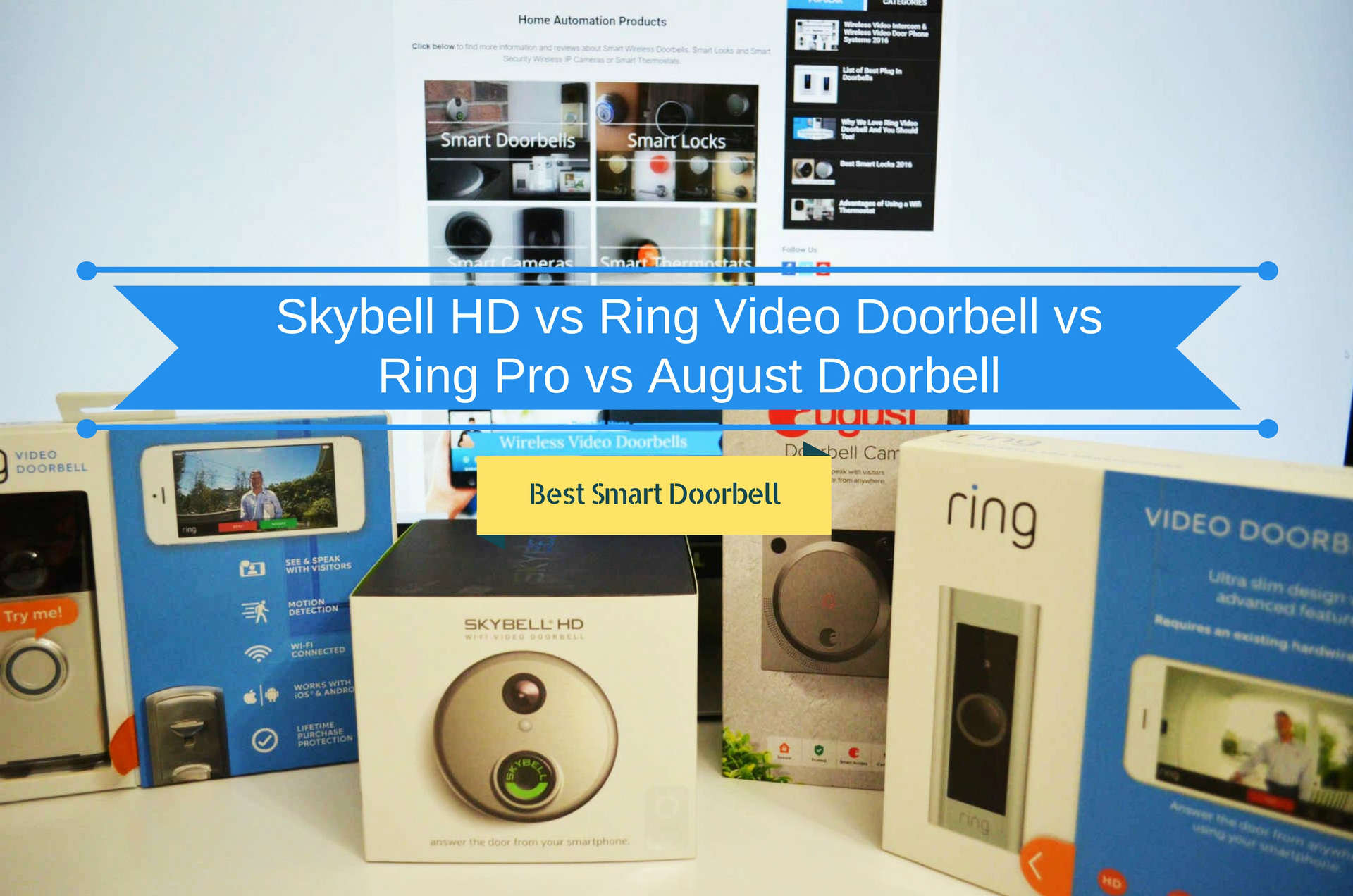 Best Video Doorbell Reviews Skybell Hd Vs Ring Pro 2 Wiring Up Here You Find Out How The New August Compared To Each Other In Multiple Tests