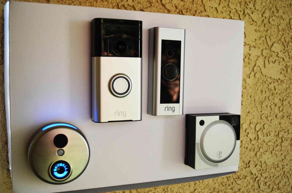 Ring doorbell vs Ring doorbell pro mounted on the box