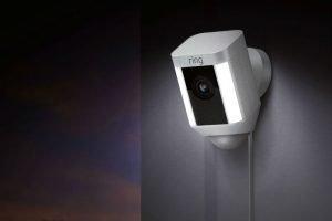Ring Spotlight Cam at night